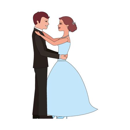 married couple avatar character vector illustration design Standard-Bild - 104523698