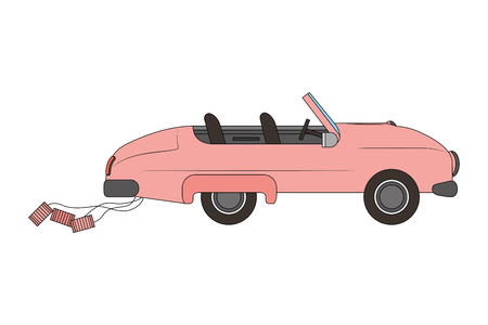 classic wedding car isolated icon vector illustration design Illustration