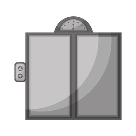 metal office building elevator doors vector illustration Illustration