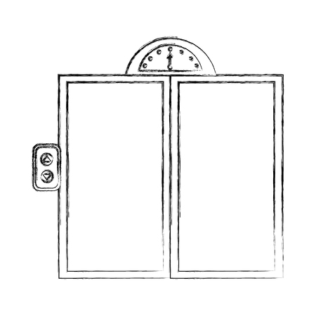 door elevator isolated icon vector illustration design