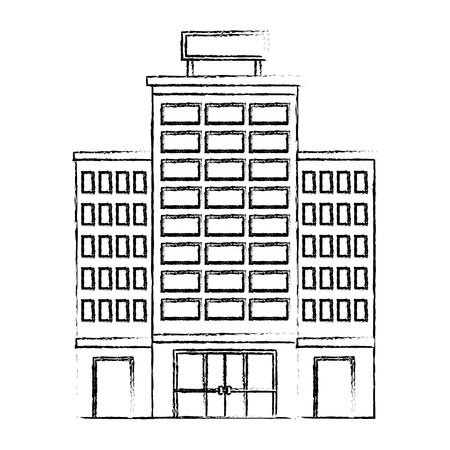 building hotel isolated icon vector illustration design 写真素材 - 114994875