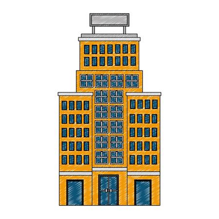 building hotel isolated icon vector illustration design Banco de Imagens - 114994893