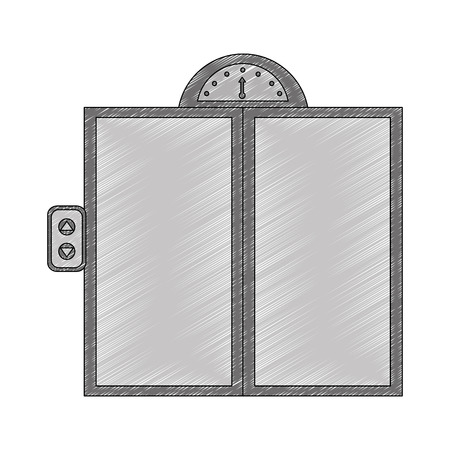 door elevator isolated icon vector illustration design Stock Vector - 104522997