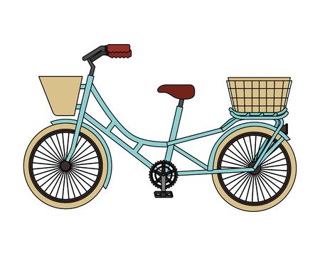 retro bicycle isolated icon vector illustration design