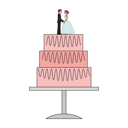 wedding cake isolated icon vector illustration design Ilustração