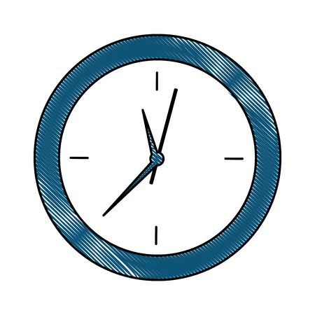 round clock time object design vector illustration
