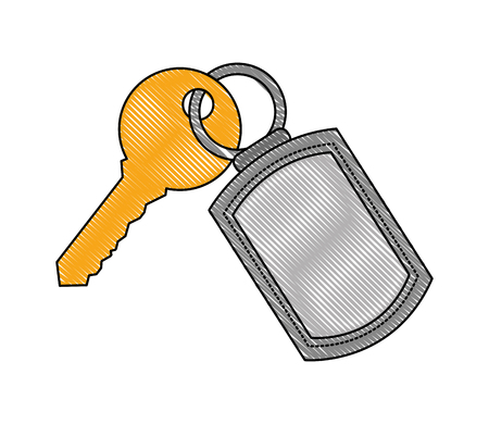 keychain and key security accessibility vector illustration
