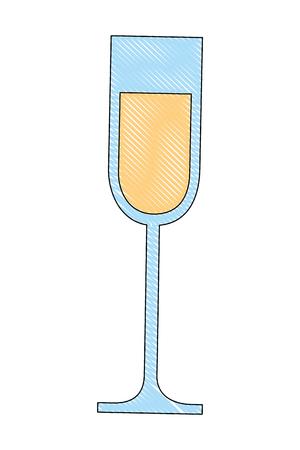 champagne glass cup drink celebration vector illustration drawing Archivio Fotografico - 104524409
