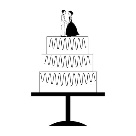 wedding cake isolated icon vector illustration design Ilustração