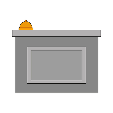 hotel reception bell service image vector illustration 일러스트