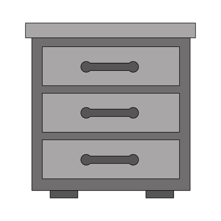 wooden furniture drawers bedside table vector illustration Stock Vector - 114997374