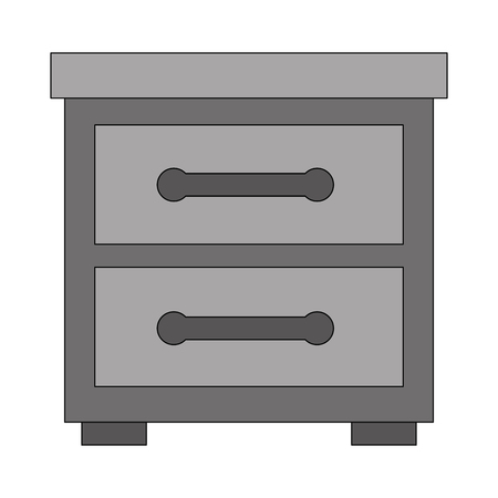 wooden furniture drawers bedside table vector illustration Foto de archivo - 114997376