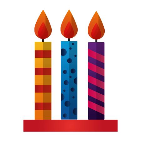 birthday candles decoration icon vector illustration design