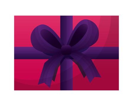 aerial view gift box present icon vector illustration design