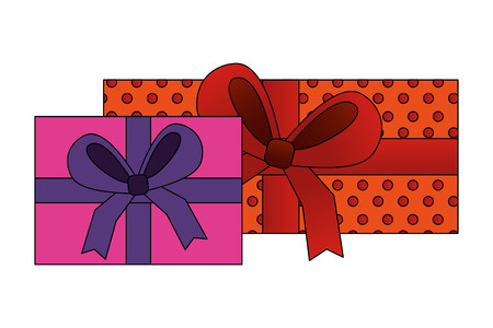 aerial view gifts boxes present icon vector illustration design 일러스트
