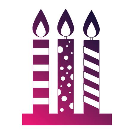 birthday candles decoration icon vector illustration design Stock fotó - 114997633