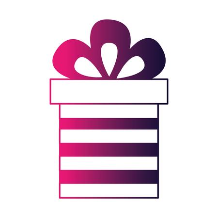 gift box present icon vector illustration design  イラスト・ベクター素材