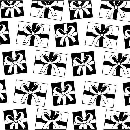 gifts boxes present pattern vector illustration design