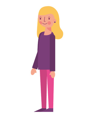 woman female character cartoon image vector illustration