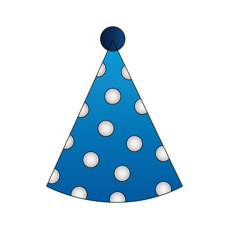 dotted party hat accessory birthday vector illustration Illustration