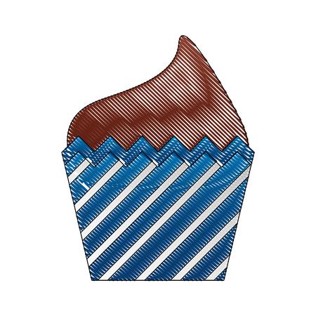 decorative birthday cupcake sweet food vector illustration drawing