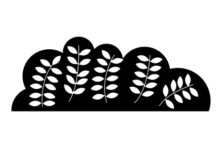 bush nature with leafs icon vector illustration design