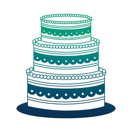 sweet birthday cake snack celebration vector illustration neon design Çizim