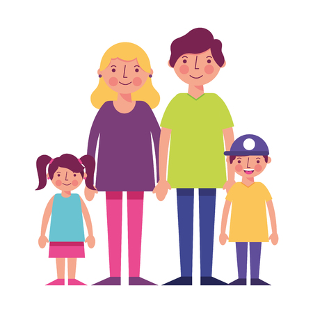 happy family avatars characters vector illustration design Illustration