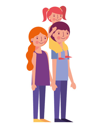 happy family avatars characters vector illustration design  イラスト・ベクター素材