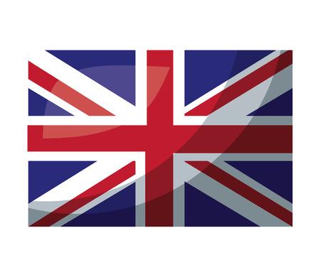 united kigdom flag memorial symbol vector illustration