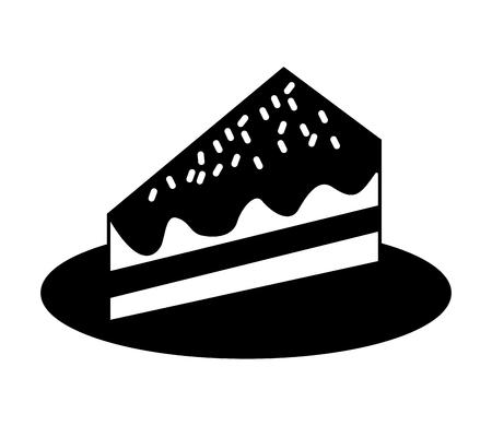 sweet cake slice isolated icon vector illustration design