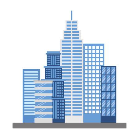 buildings structures isolated icon vector illustration design Illusztráció