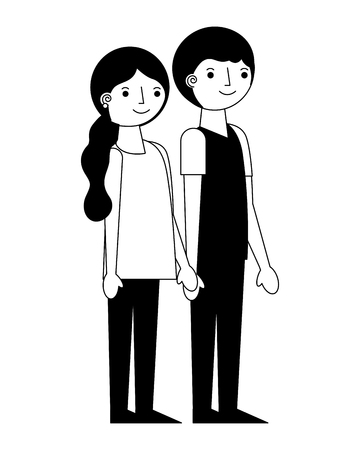 parents couple lovers characters vector illustration design