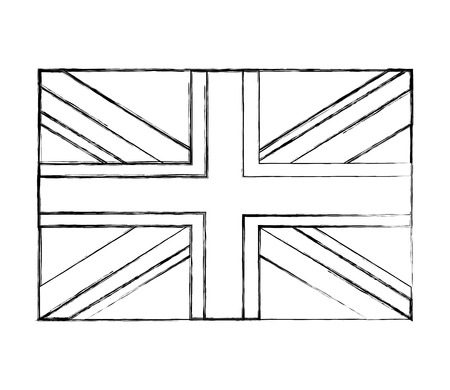flag of great britain isolated icon vector illustration design Ilustração