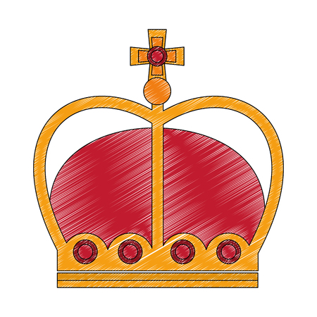 crown of kings isolated icon vector illustration design Vettoriali