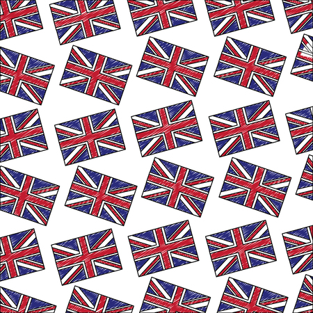 flag of great britain pattern vector illustration design Ilustração