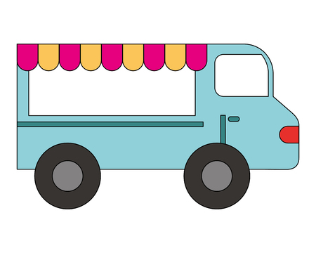shop fast food truck isolated icon vector illustration design Illustration