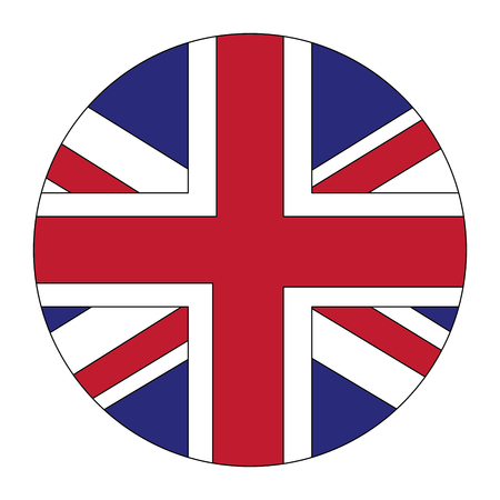 round flag british national button vector illustration