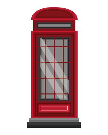 london telephone box classic design vector illustration Foto de archivo - 104565978