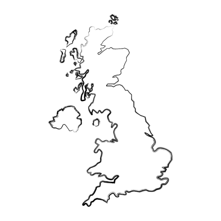 map great britain isolated icon vector illustration design