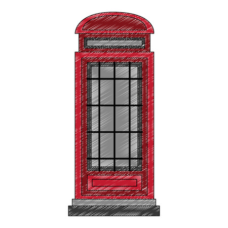 classic british telephone booth vector illustration design