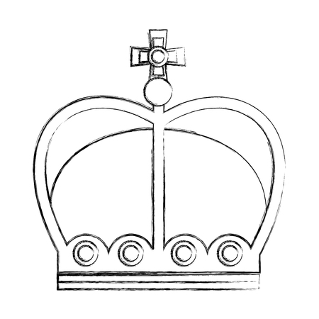 crown of kings isolated icon vector illustration design Illusztráció