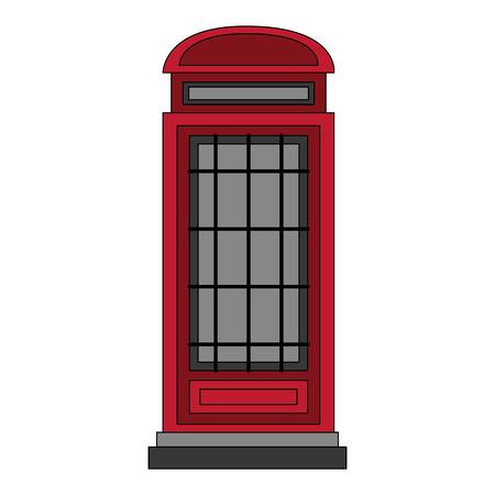 london telephone box classic design vector illustration Stock Illustratie