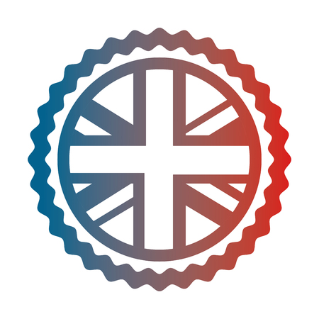united kingdom flag in sticker decoration vector illustration gradient design