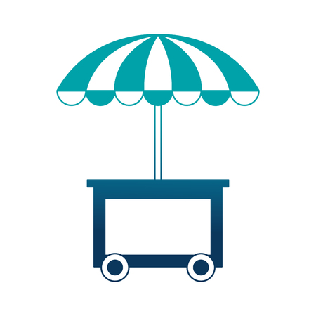 shop fast food cart isolated icon vector illustration design