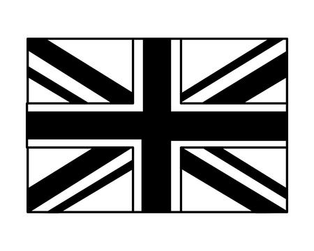 united kigdom flag memorial symbol vector illustration black and white