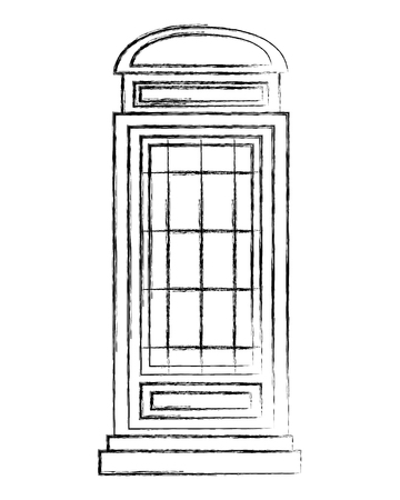 classic british telephone booth vector illustration design Foto de archivo - 104577852