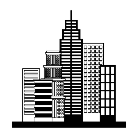 buildings structures isolated icon vector illustration design Ilustração