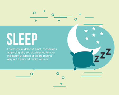 sleep relax healthy good habits vector illustration