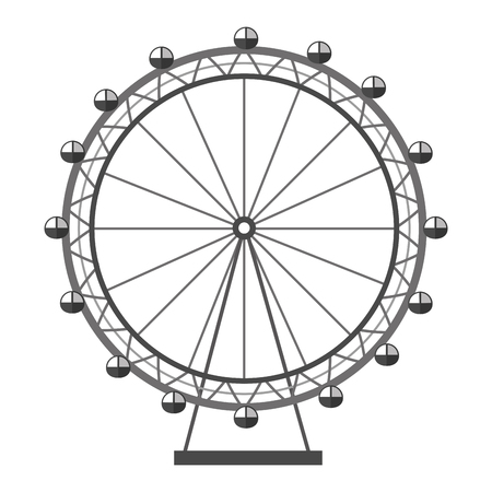 london eye wheel landmark england vector illustration Illustration